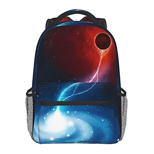 FJJLOVE Zaino Tote Black Holes Engulf Galaxies Classic Basic Bookbag Borsa da scuola resistente all'acqua Zaino casual con tasche laterali