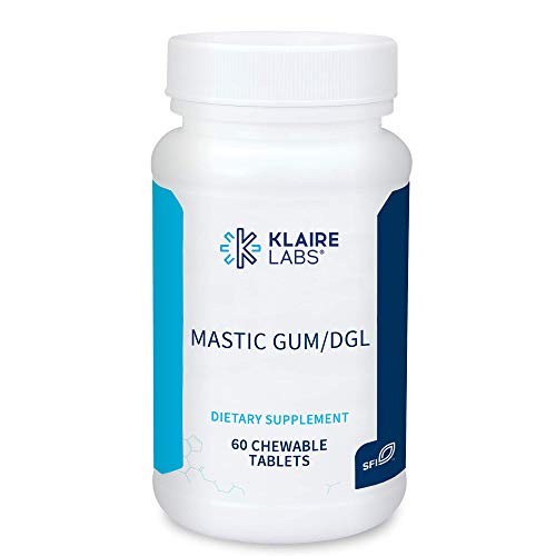 Klaire Labs Mastic Gum/DGL Chewable - DGL Licorice Chew for Digestion Support & Occasional GI Discomfort - Deglycyrrhizinated Licorice and Mastic Gum (60 Chewable Tablets)