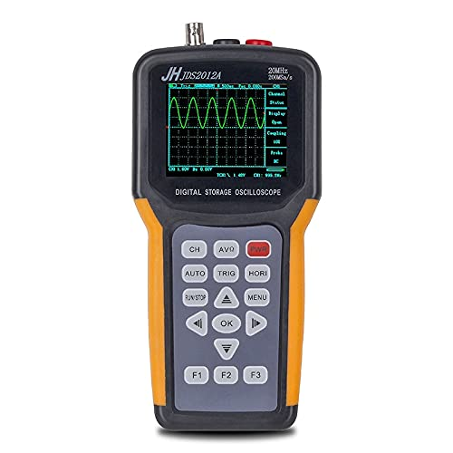 Yuqiyu JDS2012A Kit de osciloscopio Digital Profesional + Generador de Forma de Onda Portátil USB 1Channels 20MHz 200mSA / S Mediciones de diodo