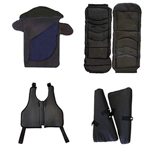 Excel Elise - Juego de accesorios para cochecito de bebé, saco de dormir, asiento acolchado, inserciones laterales, arnés chaleco, para adaptarse a Excel Elise Buggy, color azul