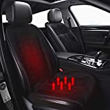 Heated Car Seat Cover, Xndryan 12V/24V Soft Comfortable Car Front Seat Heated Pad, Nonslip Lengthen Car Seat Warmer, Drivers Heated Seat Cushion To Relieve Fatigue/Warm Up Your Body (1 Pack)