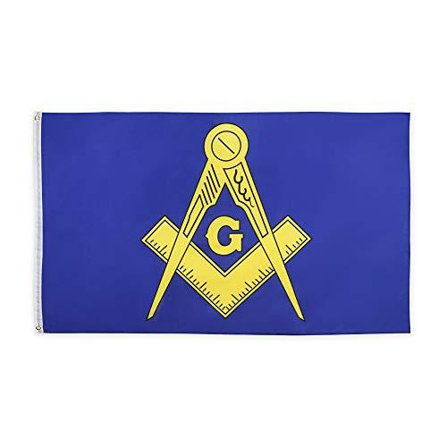 ANJOR 3x5 Fts Masonic Flag - Freemasonry Flags