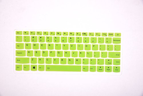 Leze–Ultra Dünn Silikon Laptop-Tastatur Cover Haut Displayschutzfolie für für 33,8cm Lenovo IdeaPad 710S, IdeaPad 510S Ultra-Portables Laptop Tr Green