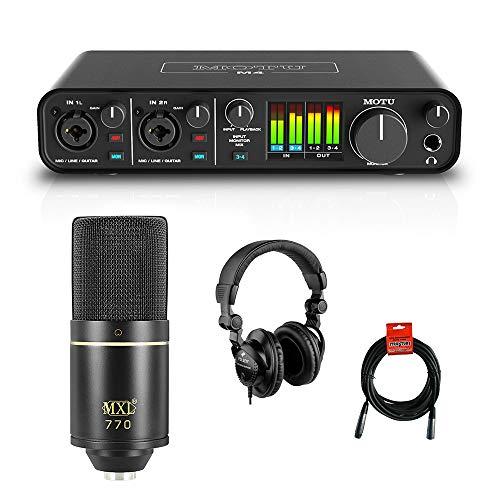 Motu M4 4x4 USB Audio Interface with MXL ...