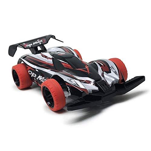 DJXWZX 01.24 4WD High Speed Kinder und Erwachsene Geburtstags-Champion Drift RC Offroad-Rennfahrzeug Spielzeug Modell 2.4G Fernbedienung Rally Dirt Bike Climbing Car Spielzeugauto (Farbe : Red)