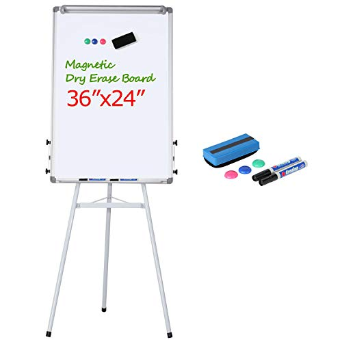 Yaheetech Height Adjustable Tripod Magnetic Whiteboard Portable Dry Erase Board with Stand for Office Classroom Meeting, Easel Stand Whiteboard
