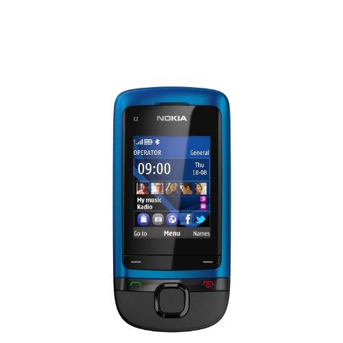 Nokia C2-05 Slider-Handy blau