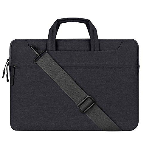 """Cuitan 13-13.3 Zoll Notebooktasche für Apple MacBook / Acer / Asus Zenbook / Dell / Toshiba, Laptoptasche Laptophülle Handtasche Schultertasche Umhängetasche Sleeve für Notebook 13\""""-13.3\"""" - Schwarz"""