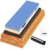CWINDY 1000/6000 Grit Sharpening Stone Whetstones Knife Sharpening Stones Waterstones Wetstones Wet Stones Knife Sharpener Stones Angle Guide, Bamboo Base and Fix Stone Included