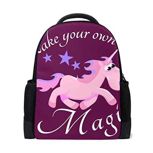 FANTAZIO Mochila con diseño de unicornio y caballo de fantasía