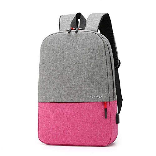 WYYYY Fashion Travel Oxford Stoff Rucksack Herren Casual Outdoor 3D Atmungsaktiv Einfacher Computer Rucksack rosa rot