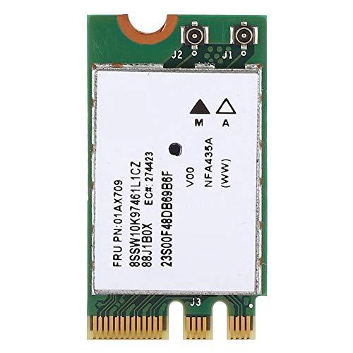 Annadue Drahtlose Dualband Netzwerkkarte (2,4 G + 5 G), QCNFA435 NGFF/M.2 Schnittstellen Netzwerkkarte, für Lenovo IdeaPad 510-15IKB 510S 520S 530S 110 120S E470 E570 E475 E575 E31-80 E42-80