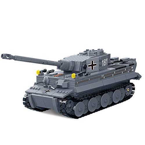 Trueornot Tiger Panzer-Modellbausatz 1010 Teile 1:28 Militär-Panzer-Modellbausatz kompatibel mit den meisten Marken