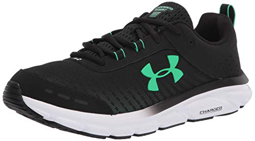 Under Armour Men's Charged Assert 8, Black (006)/White, 9.5 M US