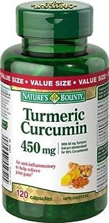 Nature's Bounty Turmeric Curcumin 450 mg, Value Size 120 Capsules