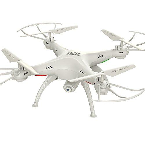 Drone con Cámara HD, Drone RC,  2.4GHz 4CH 6-Axis Gyro RC Quadcopter, Drone Videocámara RTF Estabilización de Altitud, Modo Sin Cabeza