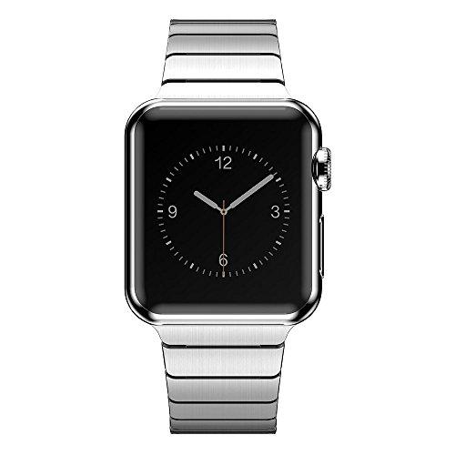 CoverKingz Edelstahl Band ersetzt Apple Watch Series 5/4/3/2/1 Armband, Gliederarmband 42mm/44mm, Metall Silber