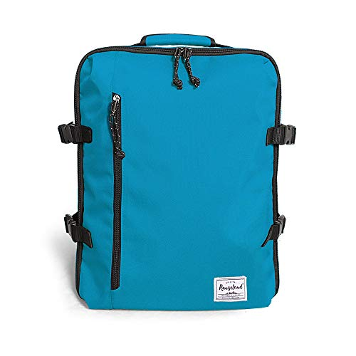 Rangeland Cabin Hand Luggage Backpack Carry-On Daypack Fits 15-inch Laptop Notebook and Travel Accessories meets IATA Flight Standards, Water Blue