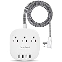 One Beat Desktop Power Strip with 3 Outlet 4 USB Ports