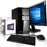 Komplett PC Intel Intel Quad/Multimedia Computer mit 3 Jahren Garantie! | Intel Core J1900 Quad Core, 2.42 GHz | 8GB | 500GB | USB 3.0 | Win10 Pro | 22' Full-HD TFT | Tastatur+Maus #6641