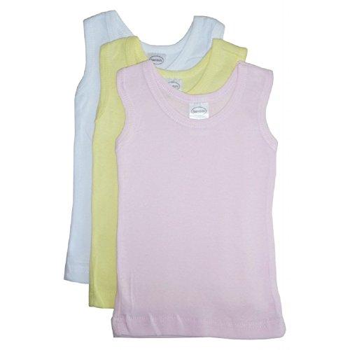 Bambini Baby Boys Girls Unisex 3-Pack Sleeveless T-Shirts Tanks, Pink, Large 27-34 Lbs