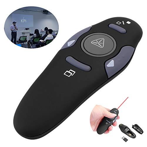 ShangSky Presenter mit Pointer,Präsentation Fernbedienung Pointer für Präsentationen,2.4Ghz Wireless Presenter + Rotem Pointer für PPT/Keynote/Prezi/OpenOffice/Windows