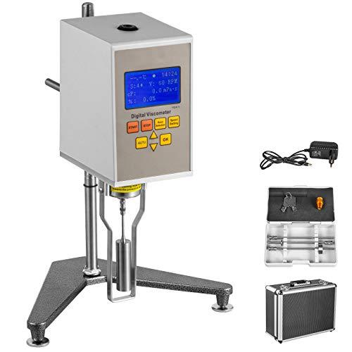 VEVOR Viskosimeter NDJ-5S Digitales Rotationsviskosimeter 1-100000 mPa.s Viscometer Messen der absoluten Viskosität von Newtonscher Flüssigkeit in der Pharmazie und in der Klebstoffkosmetik