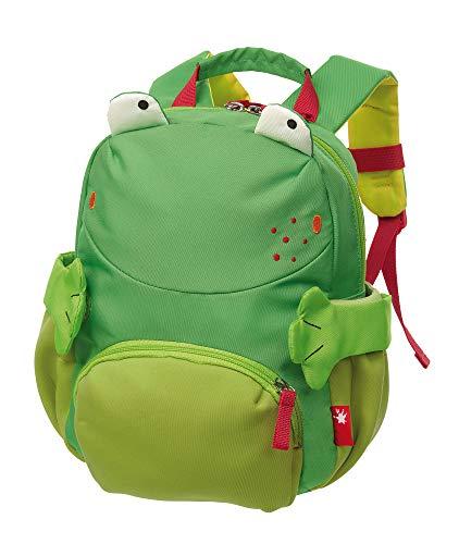 sigikid, Jungen und Mädchen, Mini Rucksack, Motiv Frosch, Grün, 24920