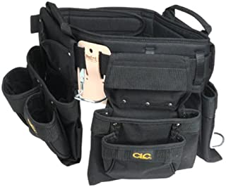 CLC Custom Leathercraft 5605 Professional Carpenters Combo Tool Belt, Black, 18 Pocket