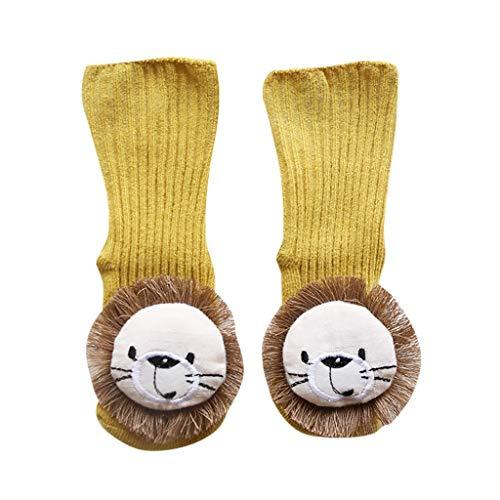 ZZBO Baby Slipper Boden Socken Winter Stoppersocken mit Cartoon Tier Niedliche Dekor Rutschfeste Babysocken Kleinkind Baby Anti-Rutsch-Socke Mit Fuß Sole Brief-Design Kinder Kniestrümpfe