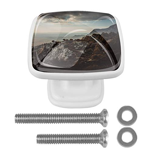 4 pomos para armarios de cocina de 1.18 pulgadas con tornillos para cocina, aparador, armario, baño, armario, montaña