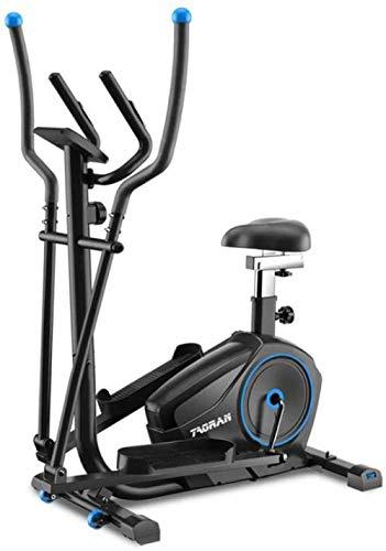 MIAO Bicicleta elíptica 2 en 1 Bicicleta estática Ejercicio-Fitness Cardio Weightloss Workout Machine-con Asiento + Pulso Sensores de frecuencia cardíaca Cross-Training - Pequeño, Robusto y Compacto.