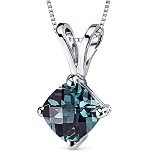 14-Karat-White-Gold-Cushion-Cut-100-Carats-Created-Alexandrite-Pendant