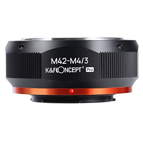 K&F Concept 【2020進化版】 マウントアダプター M42レンズ-M4/3カメラ装着 PROⅡ 艶消し仕上げ 反射防止 無...