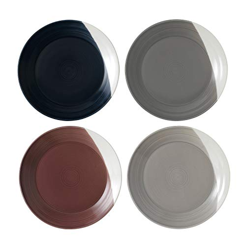 Royal Doulton Bowls of Plenty 28cm Dinner Plates Set of 4 Multi-Coloured, Porcelain, Mixed