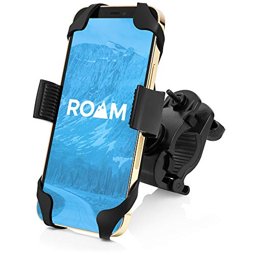 "Roam Universal Premium Bike Phone Mount for Motorcycle - Bike Handlebars, Adjustable, Fits iPhone 11, X, XR, 8   8 Plus, 7   7 Plus, 6s Plus   Galaxy, S10, S9, S8, Holds Phones Up to 3.5"" Wide"