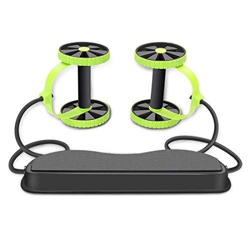 NIANZAI LUHUAPING Fitnessgeräte Ab Roller Rad Übung Fitness-Rad for Mann und Frauen Home Gym Bauch Arm Maschine Workout Ausrüstung Taille Abnehmen Trainer (Color : Green)