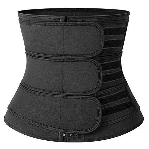 DZHTSWD Corsés para Mujeres, Entrenador de Cintura Cincher para Adelgazar Cuerpo Shaper Pérdida de Peso Grasa Burning Sauna Sauna Trimmer Fitness Cinturón Formal (Color : Black, Size : M)
