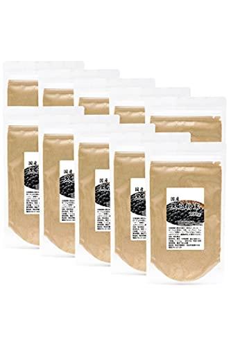 自然健康社 黒豆粉末 100g×10個 きな粉 きなこ 国産 無添加 小分け 黒大豆 パウダー チャック付き袋入り