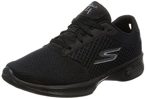 Skechers Performance Women's Go Walk 4 Exceed Walking Shoe, Black, 10...