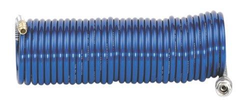 Metabo Spiralschlauch (Druckluftschlauch) PA EURO für Kompressoren, 5 m, 6x8 mm, 8 bar, Schnellkupplung, Nippel - 0901054940