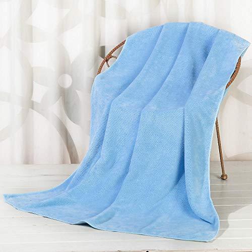 N/W Juego de Alfombrilla de bao Mostaza, Toallas de Cama para Adultos, Toallas de bao Grandes y cmodas absorbentes, Azul Claro Extra Grueso_120x200cm