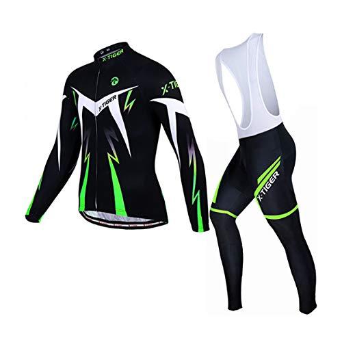 X-TIGER Ropa de Ciclismo de Invierno Para Hombre con Pantal�