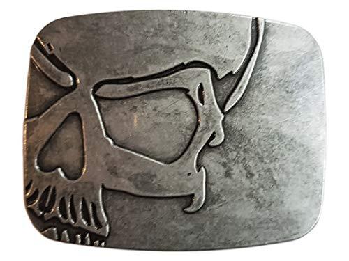 Yone Vintage Skull Belt Buckle Cowboy Buckles Gürtelschnallen