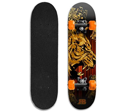 Rude Boyz Skateboard Complete 24 Inch Mini Cruiser for Kids
