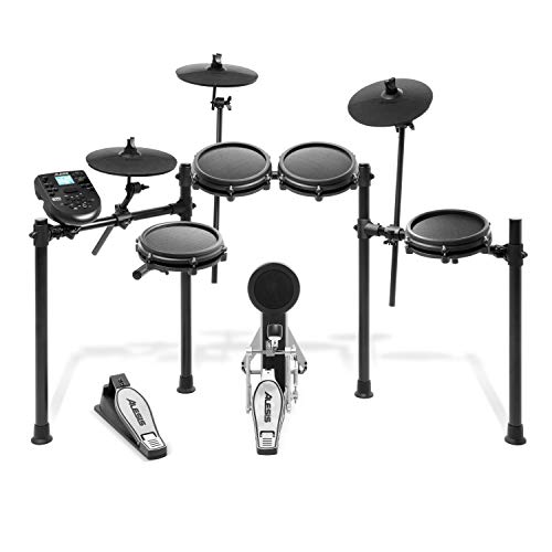 Alesis Drums Nitro Mesh Kit | Eight Piece All Mesh Electronic Drum Kit With Super Solid Aluminum...