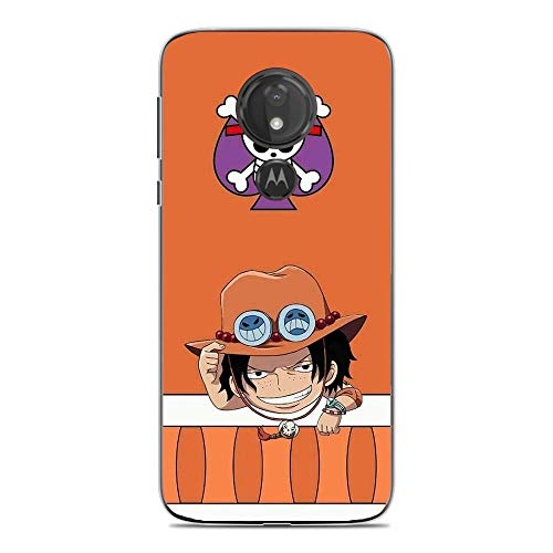 LUOKAOO Case for Moto G7 Play, One Piece-Member Skull-Logo 5 Ultra TPU Transparent Silicone Rubber Gel Edge Cover Coque Silikon