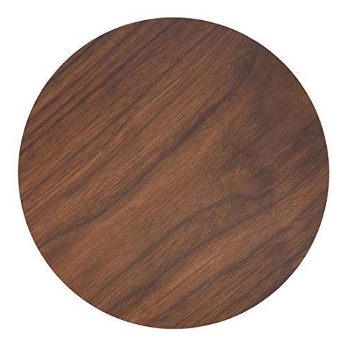 Fennco Styles Natural Wood Print Decorative MDF Cork Placemats 15 x 15, Set of 4 - Heat Resistant Insulation Round Wood Table Mats for Home Décor, Dining Table, Banquets and Family Gathering