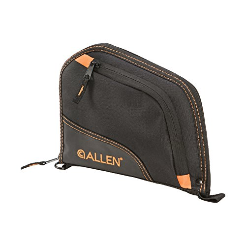 Allen Auto-Fit Handgun Case 9 Black/Orange Orange, 9, 7739