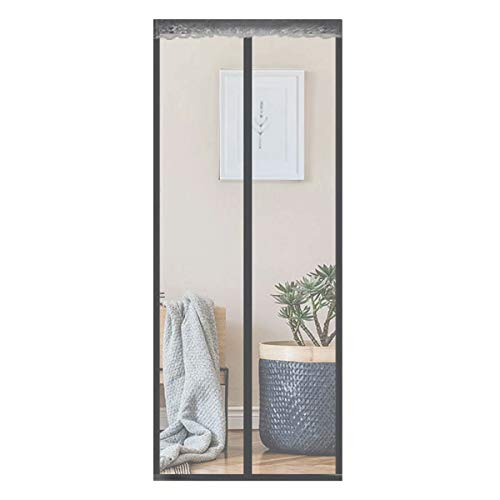 DTKJ Mosquito net for Doors with Magnet, Anti Mosquito Magnetic Soft Door, Automatically Closed Foldable Easy to Install, for Living Room/Patio Door,Gray,90-220cm